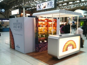 Lurpak - field marketing exhibit - train station exhibition stand